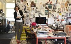 Jenna Lyons, Creative Director for J.Crew, in her New York office