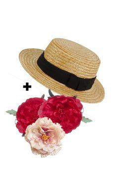 Canotier +flores  Tocados DIY