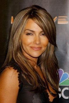 Rich chocolate brown with subtle beige blonde highlights! Best hair color for dark brown eyes and skin