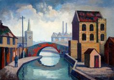 """""""Canal, Mile End"""" by Walter Steggles"""