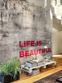 Graffiti in the interior. 18 Ideas