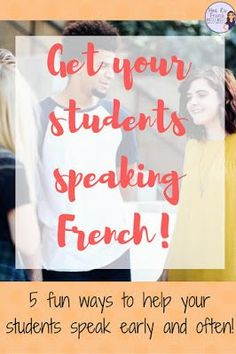 Do you struggle to get your students to speak French in class? Maybe you want to integrate more speaking, but you just don't know where to start? Click here to learn about some great ways to get your students speaking French!