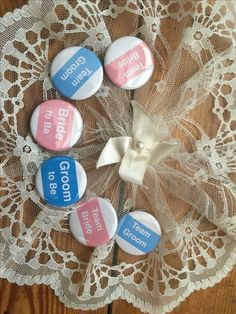 The Wedding Party, badges, Muffin ink