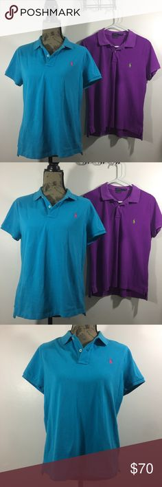 """2 Ralph Lauren """"the skinny fit"""" Polos Great condition!  original price was $75 each Both Polos are XL skinny fit.  Selling both together.  feel free to make an offer! thanks🌸 Polo by Ralph Lauren Tops"""