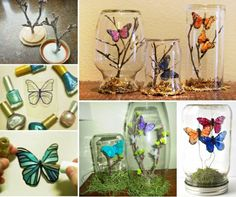 Butterfly Jar Terrariums  http://thewhoot.com.au/media/slider/crepe-paper-butterflies