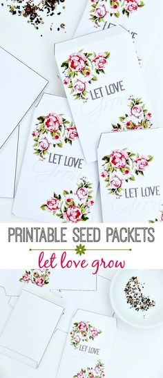 Printable Vintage Seed Packets - Perfect for Bridal Shower Favors, Wedding Favors, and more!