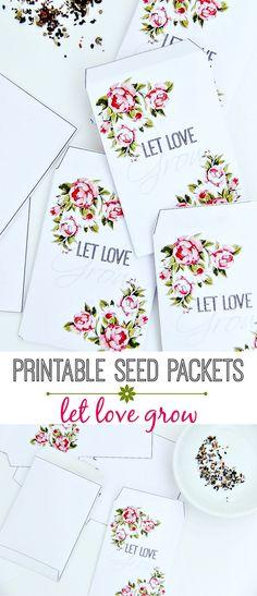 FREE printable Vintage Seed Packets