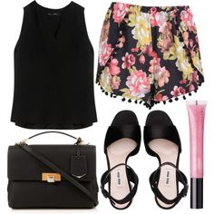 A fashion look from August 2015 featuring Proenza Schouler blouses, Boohoo shorts and Miu Miu sandals. Browse and shop related looks.