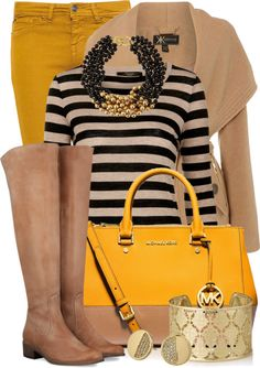 Mustard Skinny Jeans Fall Winter Outfit
