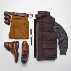 Stretch Moleskin JP 5 Pocket and Quilted Tweed Vest perfectly paired. Daily Fashion, Mens Fashion, Tweed Vest, Trendy Outfits, Fashion Outfits, Moda Casual, Outfit Grid, Mens Style Guide, Quilted Vest