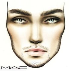 Male Face Chart, I Wouldn't Have Thought About Doing This. Have To Try!