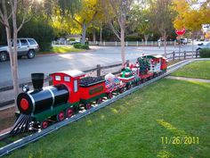 Yard Train Christmas Carnival Art Tree Farm
