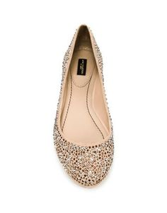 glossy ballerina flats with bling - great when you're too tall to wear heels with your wedding sari/outfit.. #zara $70