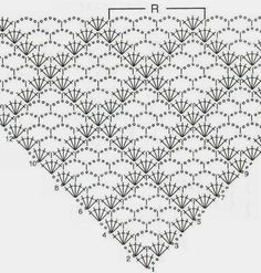 Patterns are predicted for triangular scarves-coats. If you're in the mood, you can add some lace around.