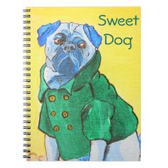 Pop Art Dog's Portrait Notebook.