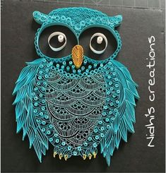 Quilled paper art colourful owl handmade artwork paper wall art home decor wall decor home decoration quilled art – Artofit Arte Quilling, Quilling Work, Origami And Quilling, Quilling Jewelry, Quilling Paper Craft, Quilling Flowers, Paper Quilling For Beginners, Paper Quilling Tutorial, Paper Quilling Patterns