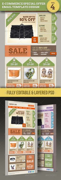 E-commerce Offers Email Template Design Vol.4