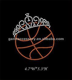 Dazzling_Basketball_with_crown_Iron_On_Rhinestone.jpg (543×600)