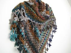 Ravelry: Project Gallery for The Original Half Granny Square/Shawl pattern by Ambar Enid Alcalá