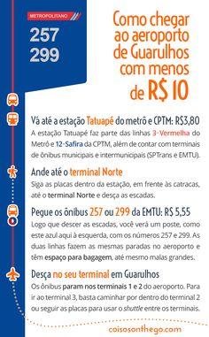 Guia rápido de como ir ao aeroporto de Guarulhos gastando menos de 10 reais!  #aeroportodeguarulhos #cumbica