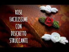 ROSE con DISCHETTI STRUCCANTI, facilissime! ( Creatività/Riciclo) Arte per Te - YouTube Handmade Flowers, Diy Flowers, Home Crafts, Diy And Crafts, Felt Ornaments, Flower Crafts, Recycling, Christmas Decorations, Homemade