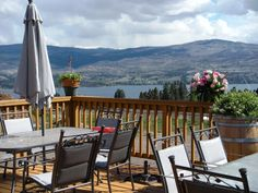 The view from @mtboucheriewine on the West Kelowna #bcwine trail. #okanagan