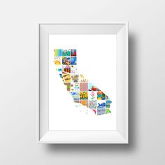 State Wall Art // Kids Artwork Display - turn your kids' art into a personalized wall decor for kids rooms, playrooms, or a creative gift School Auction Projects, Class Art Projects, Auction Ideas, Welding Projects, Displaying Kids Artwork, Artwork Display, Art Wall Kids, Art For Kids, Wall Art