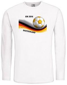 EM 2016 Deutschland; LangarmShirt weiß