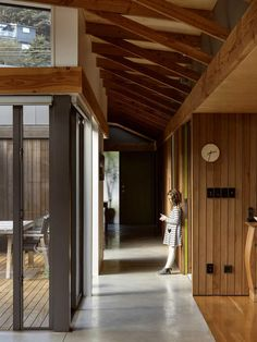 Living Area, Living Spaces, New Zealand Architecture, Beech Tree, Roofing Systems, Dark Stains, Conceptual Design, Architect House, Large Windows