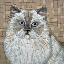 Tobi Ellis cat portrait mosaic art