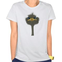 George And His Visitor Women's Hanes Nano T-Shirt. By #OneArtsyMomma $27.95 #ostrichtee #ostrich