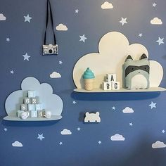 A close up of our star wall decals on this gorgeous wall!  Shop kids wall decals at www.rockymountaindecals.ca