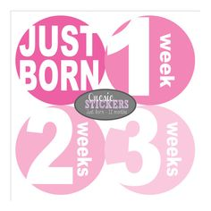 Monthly Onesie Stickers FULL SET Just Born  by SimpleandStunning2, $11.00