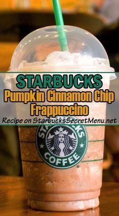 Spice up your day with a Starbucks Pumpkin Cinnamon Chip Frappuccino! #StarbucksSecretMenu