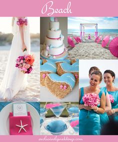 Beach Wedding in Pink and Blue | #exclusivelyweddings