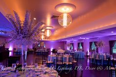 Beautiful lighting and decor at The Villa in East Bridgewater, MA. GrooveEvents.us