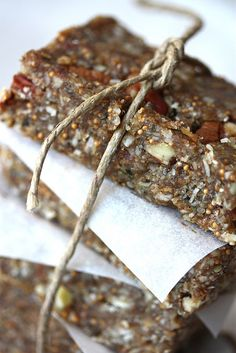 Fig & Pecan Bars (raw, vegan)