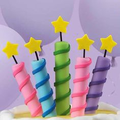 How to - Fondant Candles