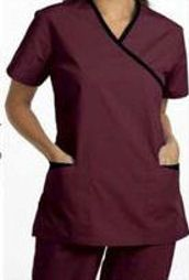 Cross Over Spa Tunic | Women's Spa Uniforms | SharperUniforms.com