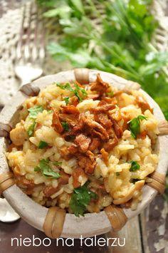 Risotto z kurkami Risotto, My Favorite Food, Favorite Recipes, Gnocchi Recipes, Fried Rice, Menu, Cooking Recipes, Pasta, Vegan
