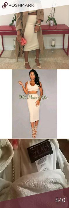 Sold Hot Miami styles 2 piece set Large Like new hot Miami styles Dresses Midi
