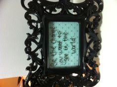 I got this frame as a gift. I added scrapbooking paper and now have a pretty place to write inspirational quotes. Scrapbook Paper, Scrapbooking, Inspirational Quotes, Crafty, Frame, Gifts, Home Decor, Life Coach Quotes, Homemade Home Decor