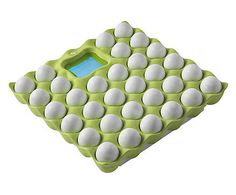 Bilancia pesapersone in gomma Eggs verde e bianca - 30x8x30 cm 65 € da Dalani