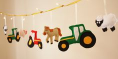 Farmyard Fairy Lights boys room decor girls by ButtonOwlBoutique, £23.00