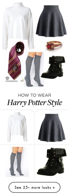 """Gryffindor"" by artsykittycat on Polyvore featuring The Elder Statesman, Chicwish, ASOS, Refresh and Savanna"