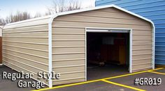 Our regular garages bring you the best outcomes. Get your regular roof garage at lowest prices, Call us now for more info and to start your project. Coast To Coast Carports, Metal Garages, Shed, Outdoor Structures, Building, Style, Swag, Buildings, Sheds