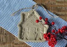 Brown Bag Cookie Art Gingerbread House Cookie by BakersFarmhouse