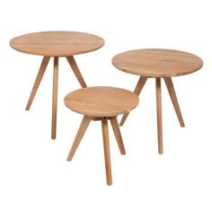 Beistelltisch 3er Set Woodylicious Holz