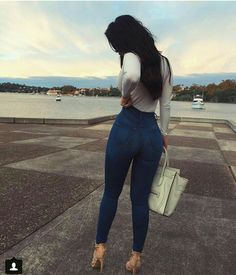 Casual outfits classic high waist skinny jeans – medium blue on Mode Outfits, Fashion Outfits, Womens Fashion, Jeans Fashion, Fashion Fashion, Latest Fashion, Sweet Fashion, Fashion Trends, Fashion Killa