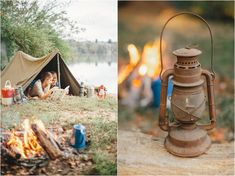 camping engagement pictures - click to view more!